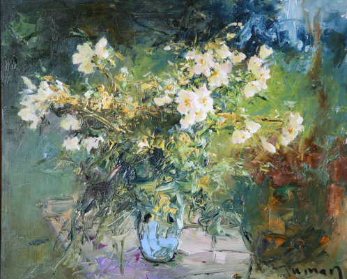 Tuman Art Gallery Tumana Zhumabayeva. White dog rose