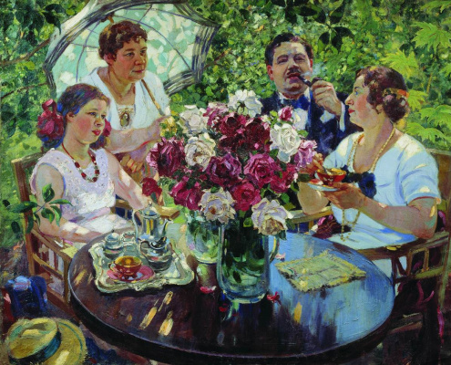 Alexander Mikhailovich Gerasimov. Family portrait.