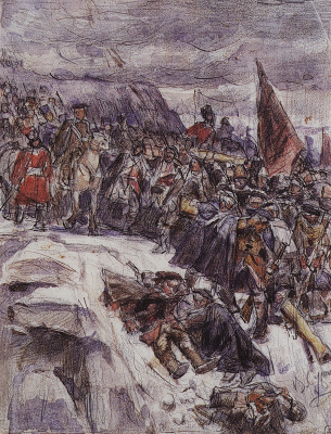 Vasily Ivanovich Surikov. Suvorov crossing the Alps. Sketch