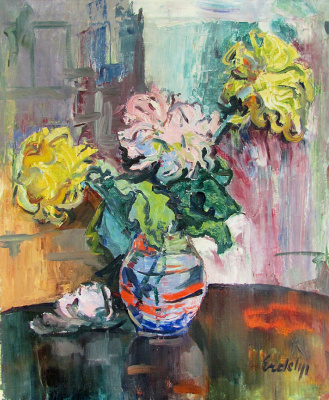 Adalbert Mikhailovich Erdeli. Chrysanthemums