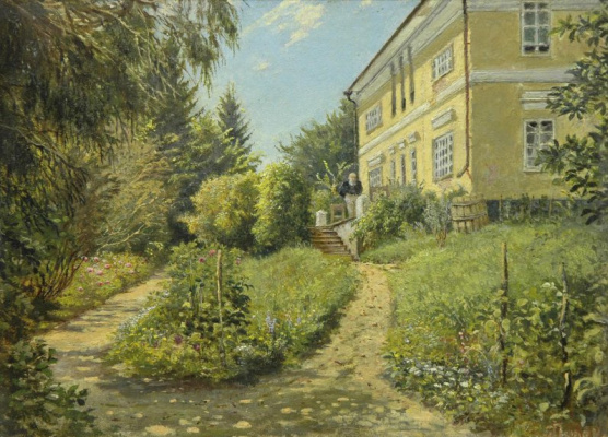 "Yakov Petrovich Polonsky. Estate A. A. Fet ""Sparrow"", Kursk province. Terrace at home"