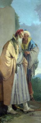 Джованни Баттиста Тьеполо. Two men in oriental costumes