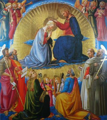 Нери ди Биччи. Коронование Девы Марии