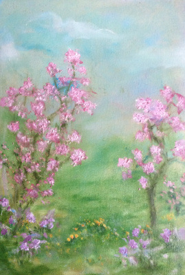 Rita Arkadievna Beckman. Flowering almond