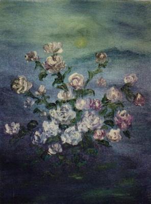 Rita Arkadievna Beckman. Moon and roses
