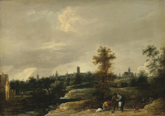David Teniers the Younger. View of the vicinity of Brussels