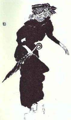 Пьер Боннар. Дама с черным зонтом