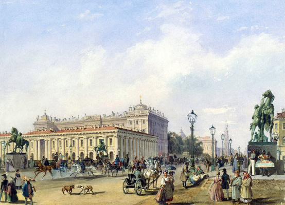 Людовик Франц Карл Бонштедт. Невский проспект у Аничкова моста