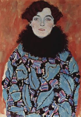 Густав Климт. Портрет Иоханны Штауде (незавершенное)