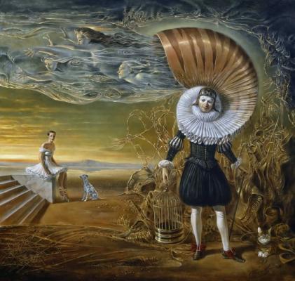 Mikhail Khokhlochev. Cavalier fluttering past