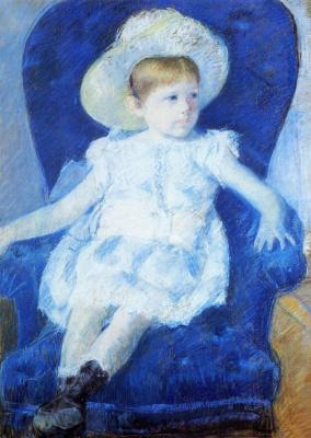 Mary Cassatt. Elsie in a blue chair