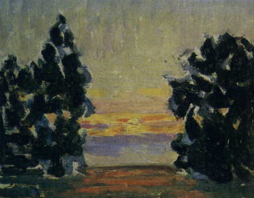 Восход солнца. Этюд