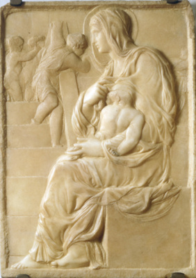 Michelangelo Buonarroti. Madonna of the stairs