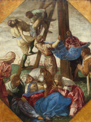Jacopo (Robusti) Tintoretto. Descent from the Cross