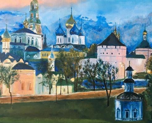 Alla Yurievna Lviv. When the lights come on. Lavra evening