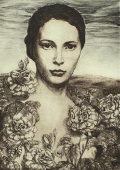 Меган Руденрус. Девушка в цветах