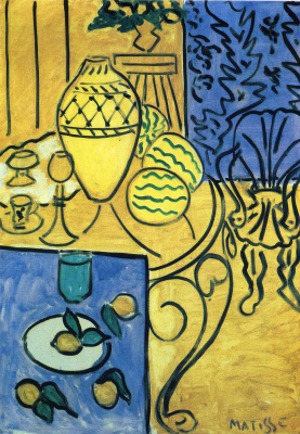 Henri Matisse. Interior in yellow and blue