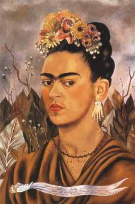 Frida Kahlo. Self portrait dedicated to Dr. Eloesser