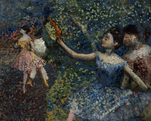 Edgar Degas. Dancer with a tambourine