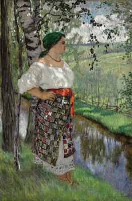 Nikolay Petrovich Bogdanov-Belsky. A peasant near a stream