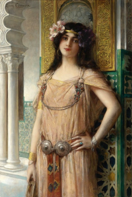 Leon Francois Comerre. A beauty from a harem.