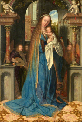 Quentin Masseys. Madonna and Child with Angels