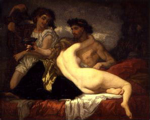 Thomas Couture. Horace and Lydia