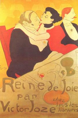 "Анри де Тулуз-Лотрек. ""Королева радости"", плакат"