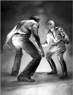 Boris Vallejo (Valeggio). Fight