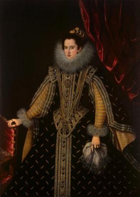 Бартоломе Гонсалес-и-Серрано. Портрет Маргариты Альдобрандини — герцогини Пармской