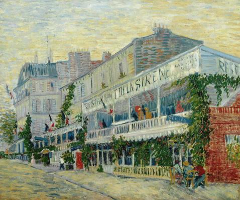 Vincent van Gogh. Sirena restaurant at Asnières