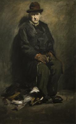 Джордж Уэсли Беллоуз. Мужчина с собакой