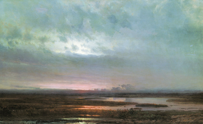 Alexey The Kondratyevich Savrasov. Sunset over the marsh