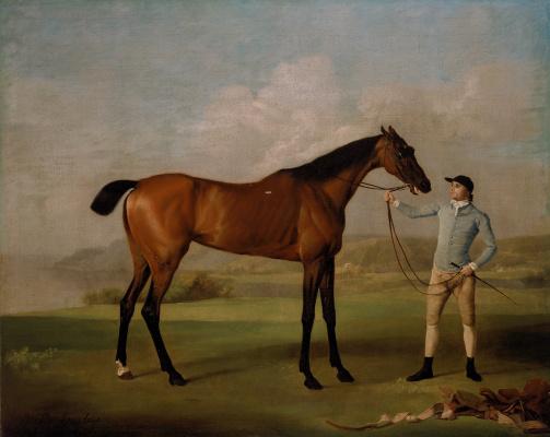 George Stubbs. Long-legged Molly and her jockey