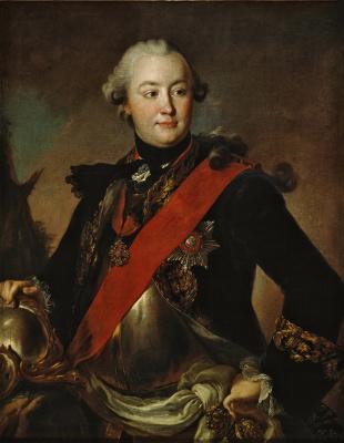 Fedor Stepanovich Rokotov. Portrait of count G. G. Orlov in armor