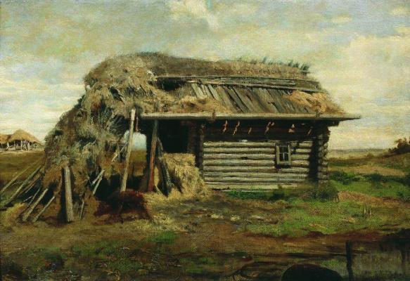Fedor Alexandrovich Vasilyev Russia 1850 - 1873. Hut.