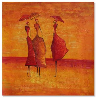 Стиль ар-деко Принт. Под зонтами
