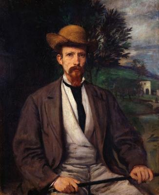 Ханс фон Маре. Автопортрет в желтой шляпе