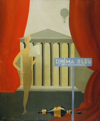 René Magritte. Blue movie