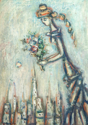 Alexander Grigoryevich Tyshler. Girl with a bouquet