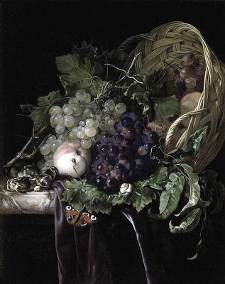 Виллем ван Алст. Натюрморт с фруктами в корзине