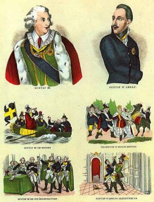 Пер Адольф Хульдберг. Сцены из жизни шведских королей Густава III и Густава IV Адольфа