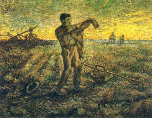 Винсент Ван Гог. Вечером: конец дня (по мотивам Милле)