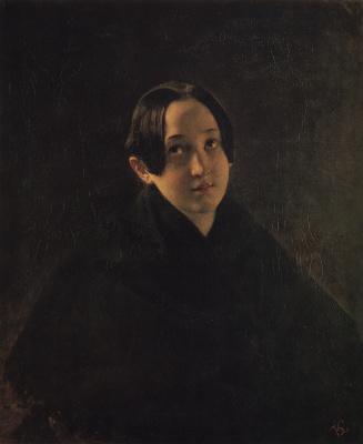 Karl Pavlovich Bryullov. Portrait of E. I. Durnovo, wife of artist T. I. Durnova