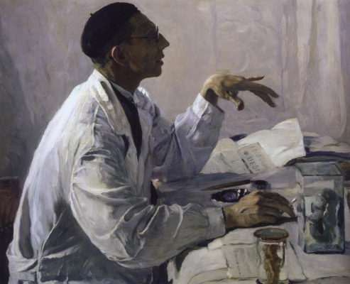 Mikhail Vasilyevich Nesterov. Portrait of a surgeon S. S. Yudin