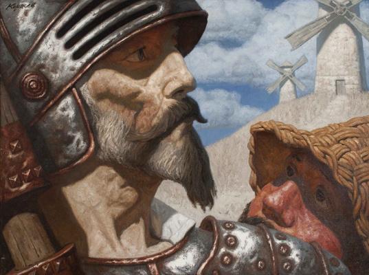 Heliy Mikhailovich Korzhev. Don Quixote and Sancho