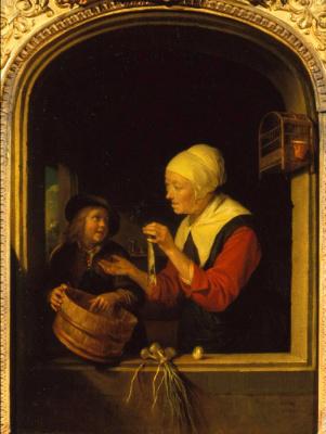 Gerrit (Gerard) Dow. Vendor herring