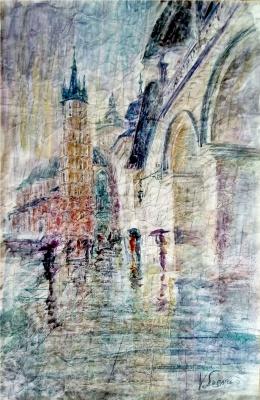 Valerij Ivanovich Sosna. Krakow Town Hall In The Rain