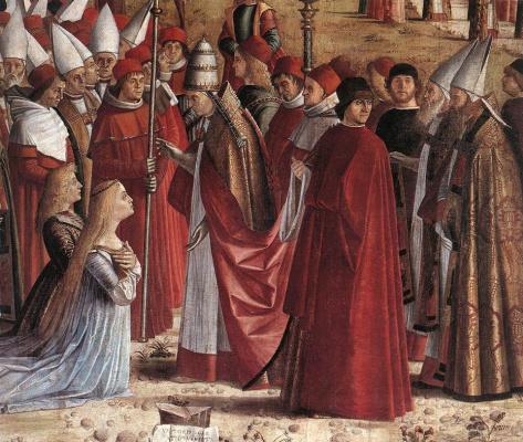 Vittore Carpaccio. The pilgrims met the Pope