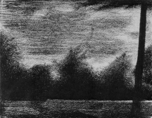Georges Seurat. The edge of the forest